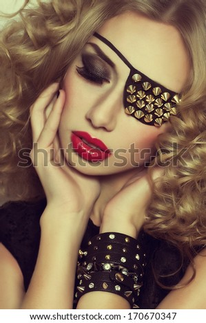 Beautiful woman. Fashion portrait  - stock photo