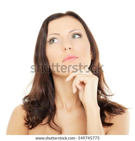 Beautiful woman - female face - stock photo