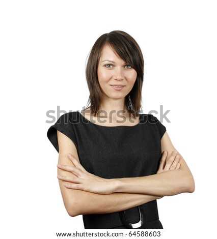 Beautiful woman isolated on white background - stock photo