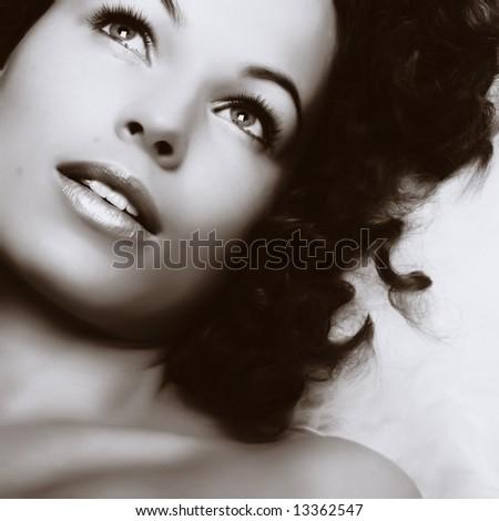 Beautiful woman. Make-up and Beauty - stock photo