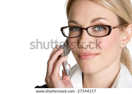 Beautiful Woman on Phone - stock photo