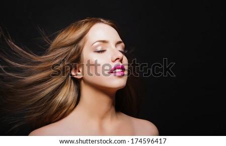 Beautiful Woman Portrait. Sexy Girl .Beauty model  - stock photo