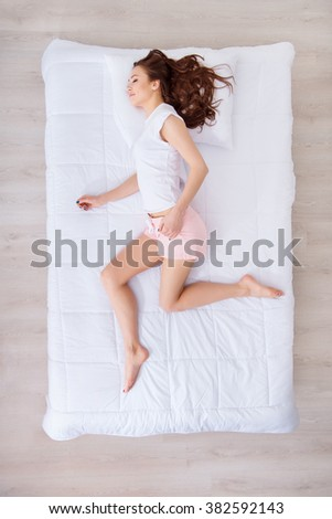 Beautiful woman sleeping  - stock photo