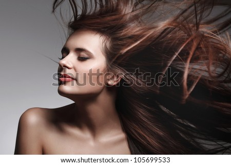 Beautiful Woman with Healthy Long Hair. High quality image. - stock photo