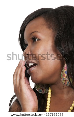 Beautiful woman yawning because she is tired - stock photo