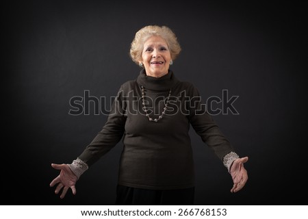 Beautiful women doing different expressions in different sets of clothes: surprise - stock photo
