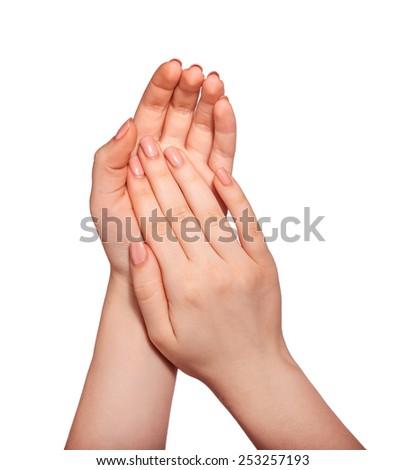 Beautiful women hands - stock photo
