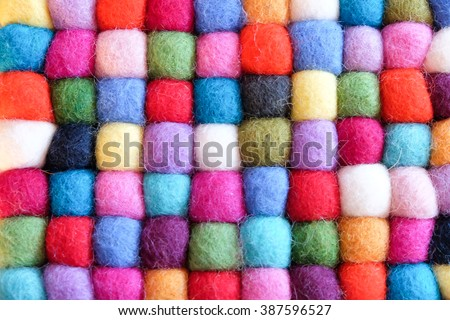 beautiful wool color background - stock photo