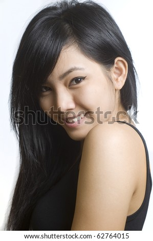 Beautiful young Asian woman. - stock photo