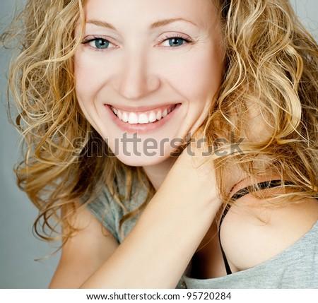 Beautiful young blonde - stock photo