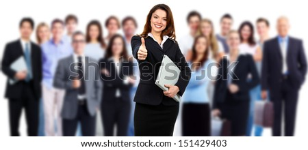 Beautiful young Business woman. Success. - stock photo