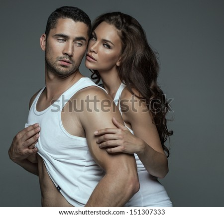 Beautiful young couple  - stock photo