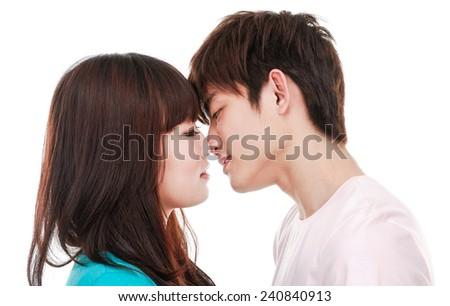 beautiful young couple - stock photo