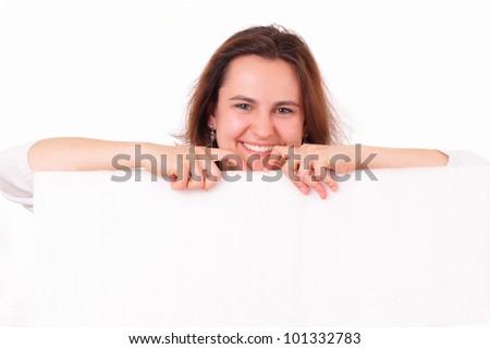 Beautiful young girl smiling - stock photo