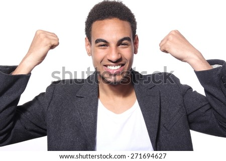 Beautiful young man - stock photo