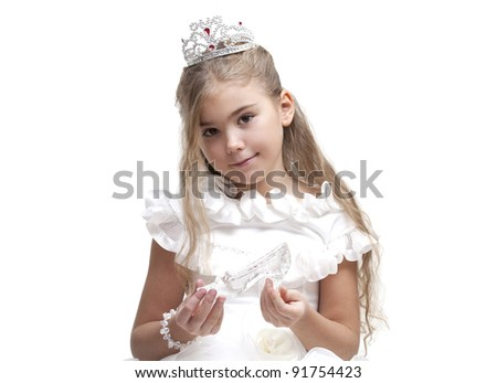 Beautiful young princess waiting for her prince - stock photo