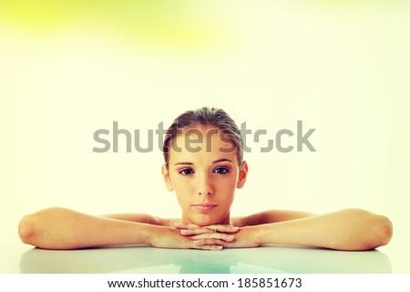 Beautiful young woman. Spa concept - stock photo