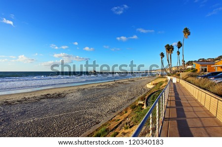 Beautifull view of Pacific Ocean, La Jolla California - stock photo
