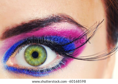 Beauty color makeup - stock photo