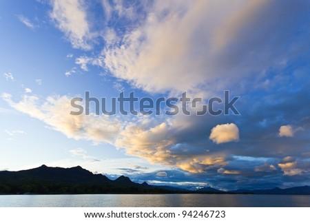 Beauty Evening Sunrise - stock photo