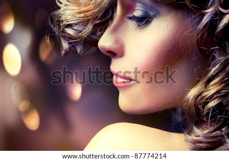 Beauty Fashion Portrait - stock photo