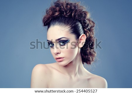 beauty fashion young bride  - stock photo