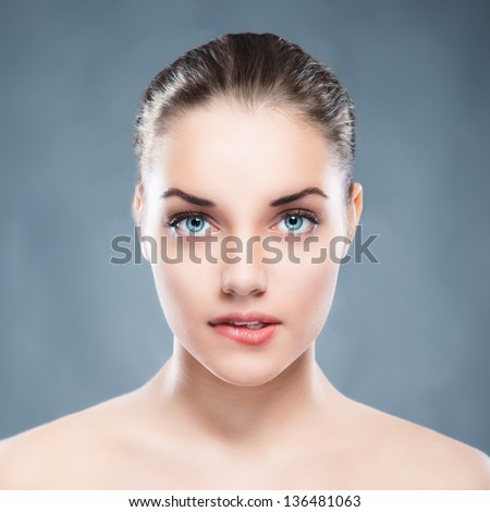 Beauty female portrait - stock photo