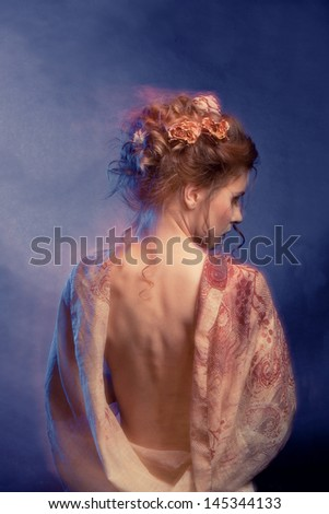 Beauty Girl.Fashion Art Woman Portrait - stock photo
