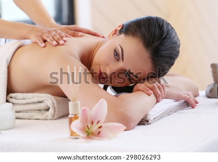 Beauty. Girl in the spa salon - stock photo