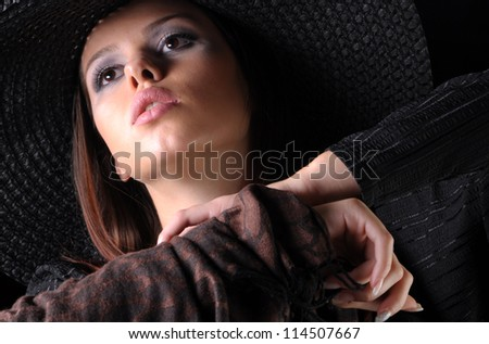 Beauty in her eyes - stock photo