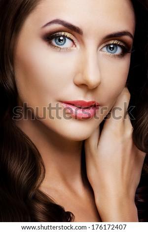 Beauty lady portrait. Beautiful young woman - stock photo