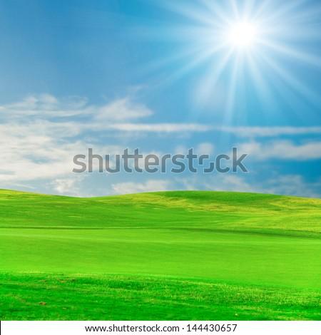 Beauty Landscape Clouds - stock photo