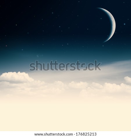 Beauty nigh. Abstract environmental backgrounds with copy space - stock photo