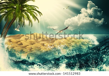 Beauty Ocean, beauty natural backgrounds for your design - stock photo