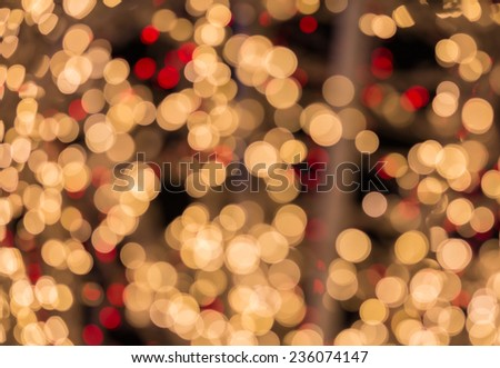 Beauty of bokeh lights Christmas background - stock photo