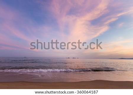 Beauty of Sand Sea and Sky after Sunset - stock photo