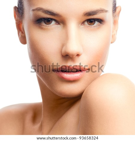 Beauty photo of an Caucasian model - stock photo