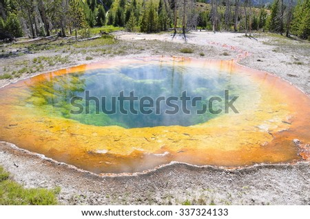 Beauty Pool - Yellowstone National Park, Wyoming - stock photo