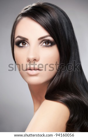 Beauty portrait of young beautiful girl - stock photo