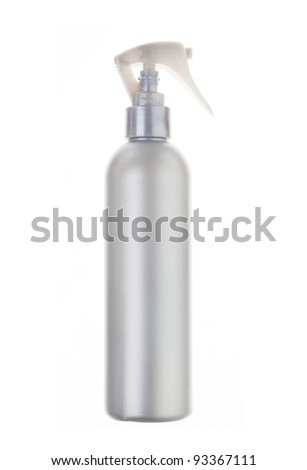 Beauty silver hairspray with dispenser - stock photo