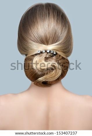 Beauty wedding hairstyle. Bride  - stock photo