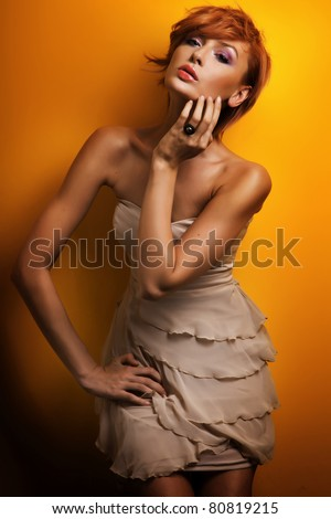 Beauty woman - stock photo