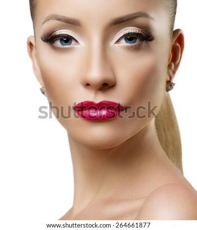 Beauty Woman Portrait. Professional Makeup - stock photo