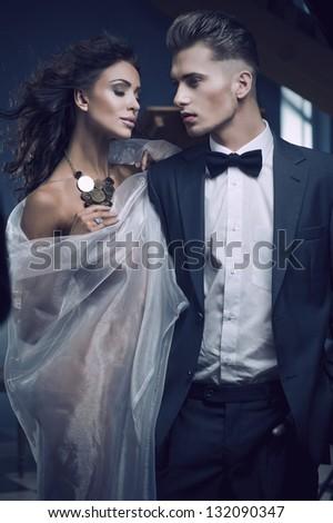 Beauty women and handsome men - stock photo