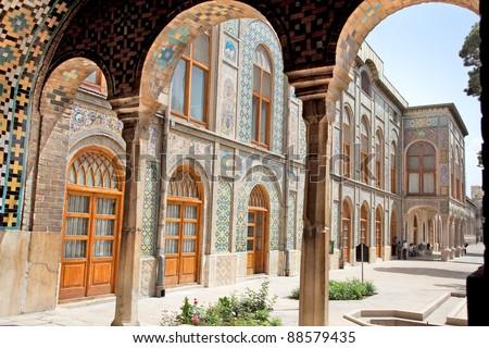 Beautyful architecture of Golestan  palace, Tehran, Iran - stock photo