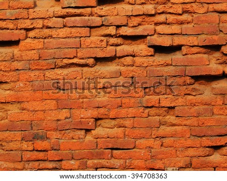 beckground  of red brick wall - stock photo