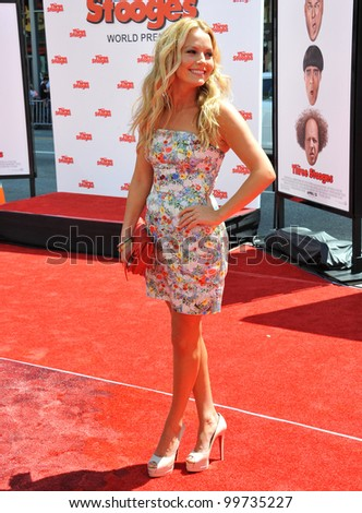 """Becki Newton at the world premiere of """"The Three Stooges"""" at Grauman's Chinese Theatre, Hollywood. April 7, 2012  Los Angeles, CA Picture: Paul Smith / Featureflash - stock photo"""