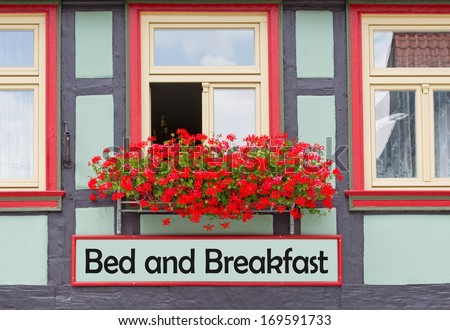 Bed and Breakfast - stock photo