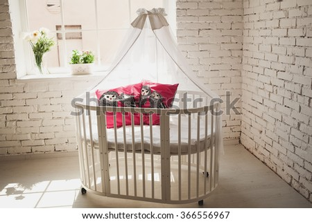 bed for baby - stock photo