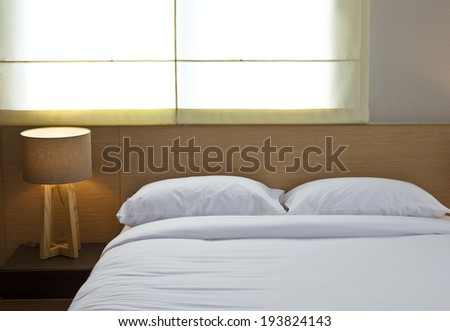 Bed room modern style. - stock photo
